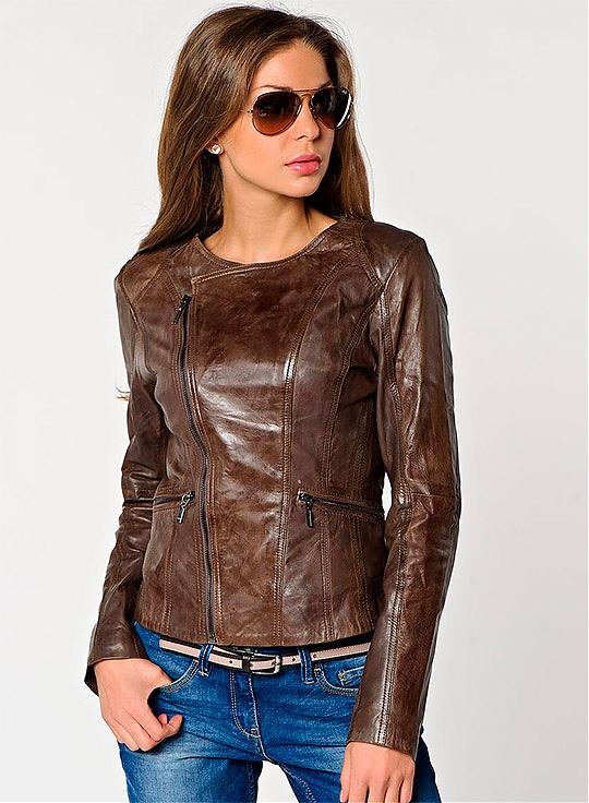 Куртки женские кожаные - Модная одежда 2013